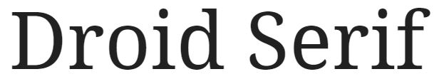 Droid Serif font