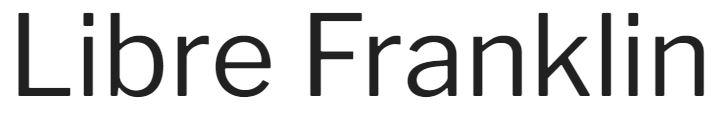 Libre Franklin font