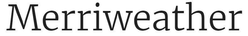 Merriweather font
