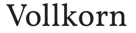 Vollkorn font