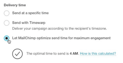 MailChimp: Send Time Optimization