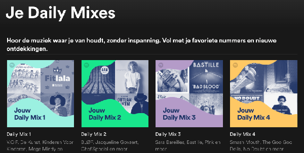 Een Daily Mix