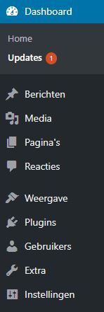 WordPress-submenu's