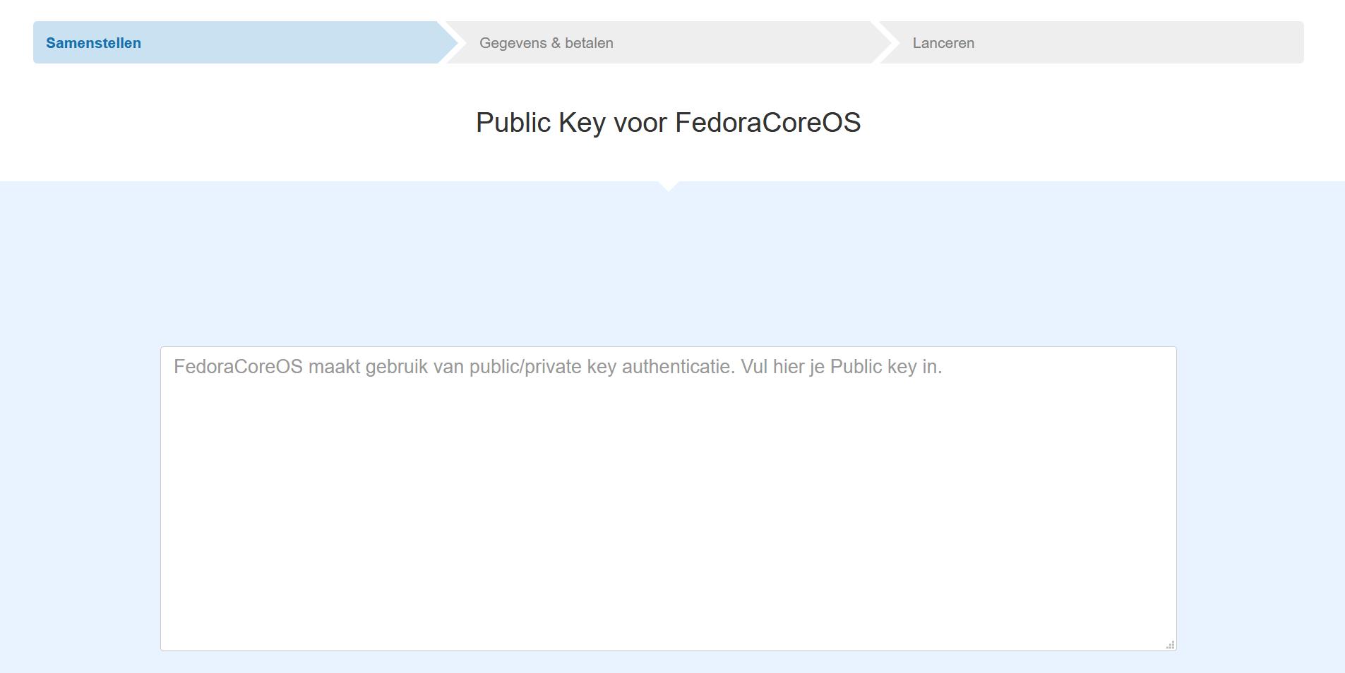 ssh key fcos bestelling