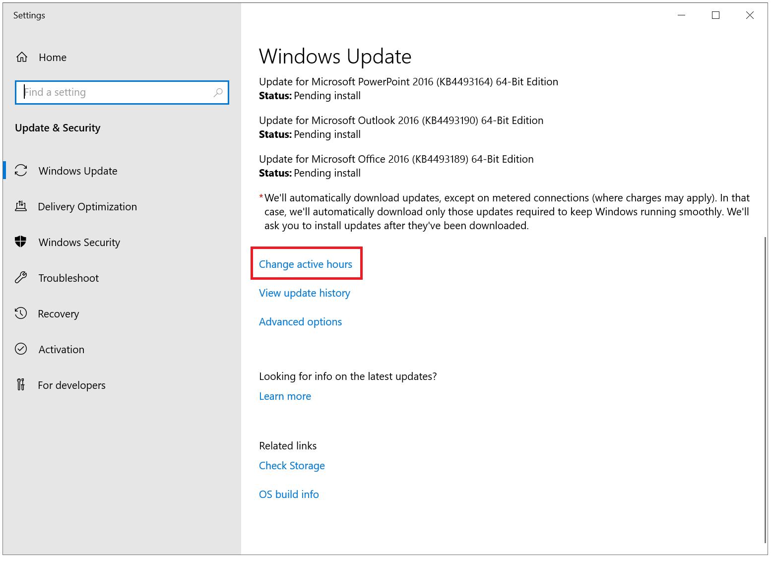 windows update active hours