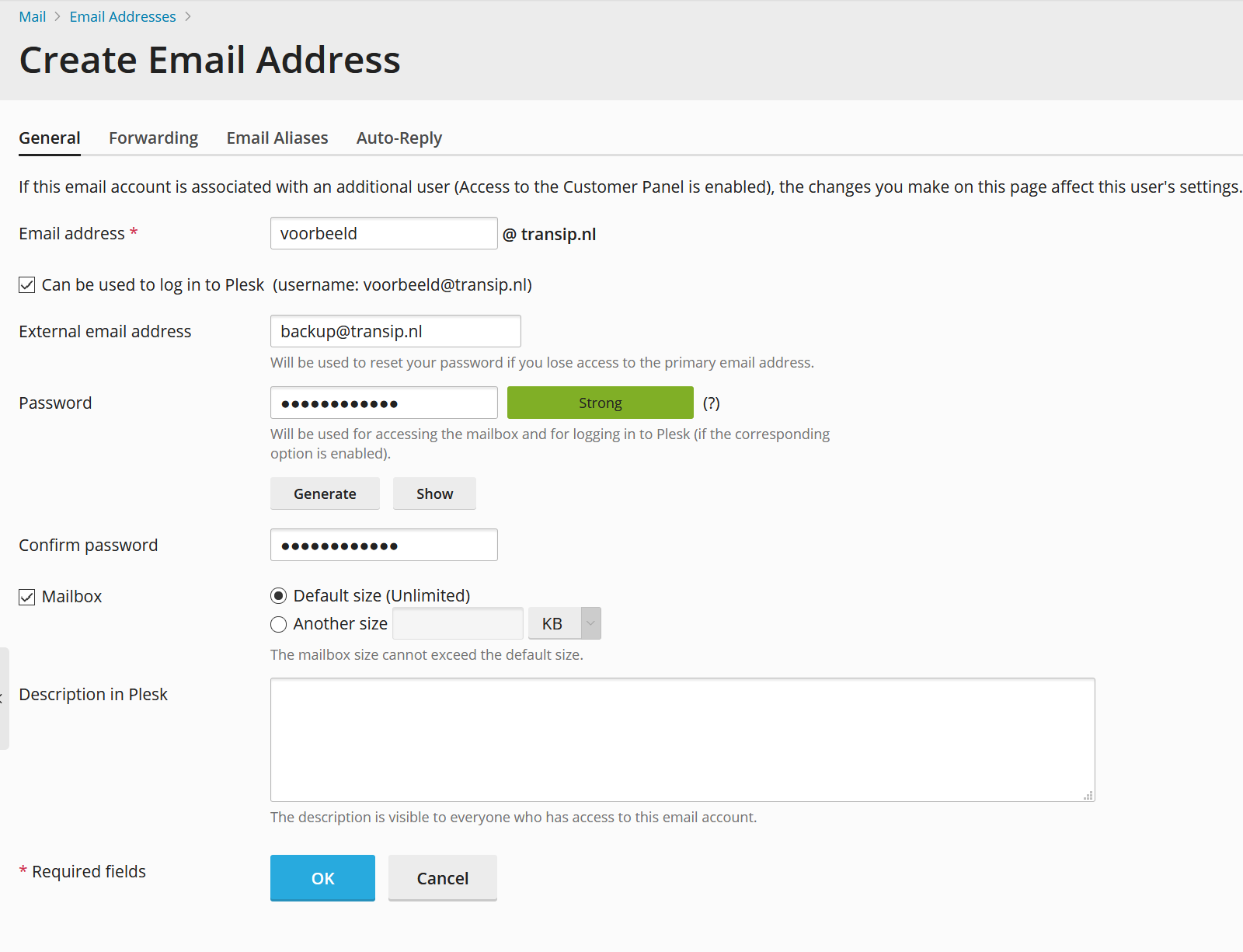 coop create email address