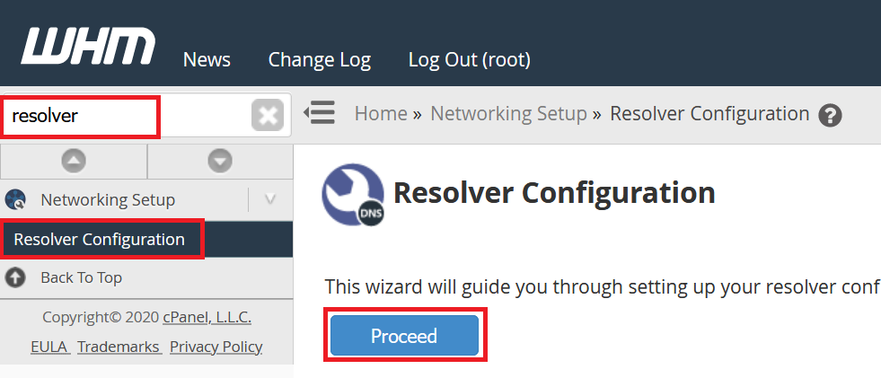 vps cpanel resolver configuration